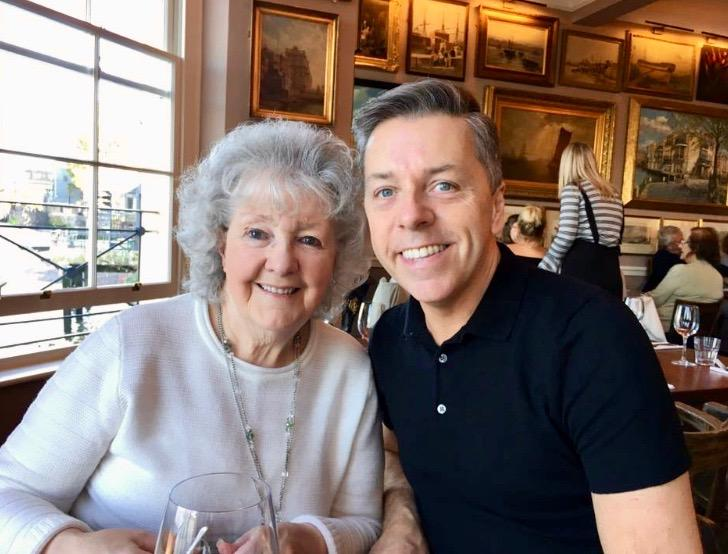 Mum and Me having a birthday lunch in Greenwich