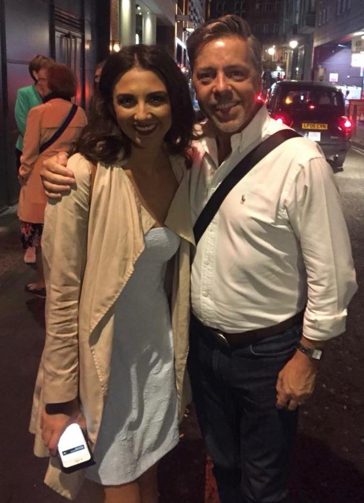 Good catch up with lovely Zizi Strallen after Strictly Ballroom at the Piccadilly Theatre