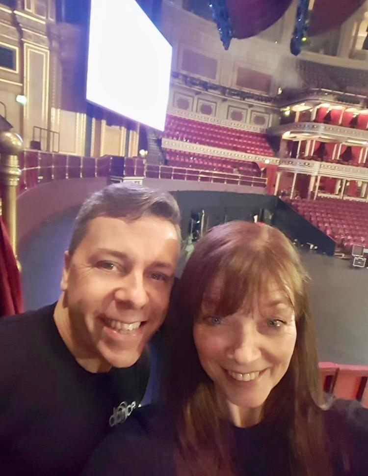 Jo and I on an early start at the Royal Albert Hall before rehearsal kick off