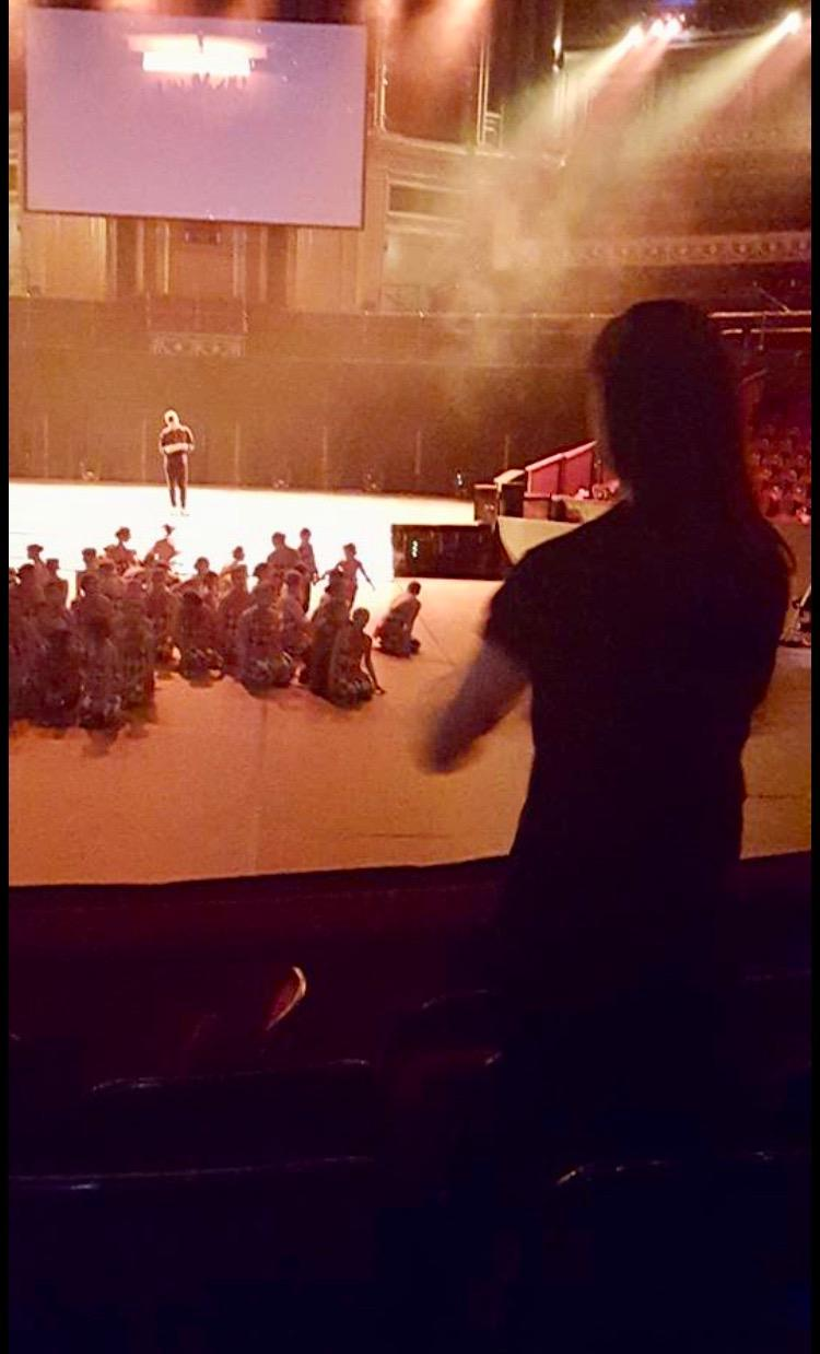 Jo filming me as blocking reference while I am staging Dance Proms at the Royal Albert Hall