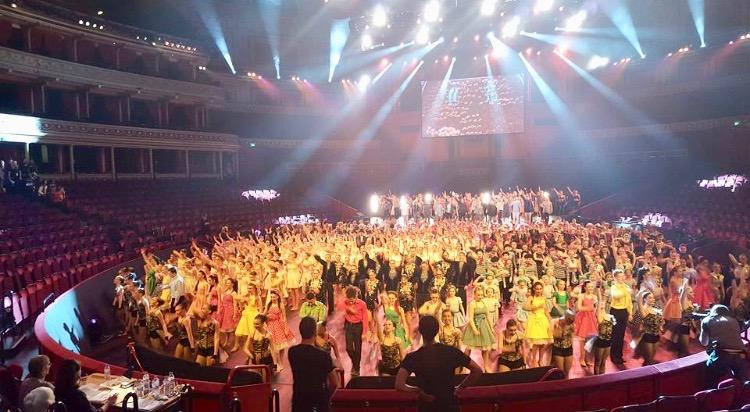 Final dress run of 500 international dancers at the Royal Albert Hall.Very intense and hard work, although gratifying to say the least