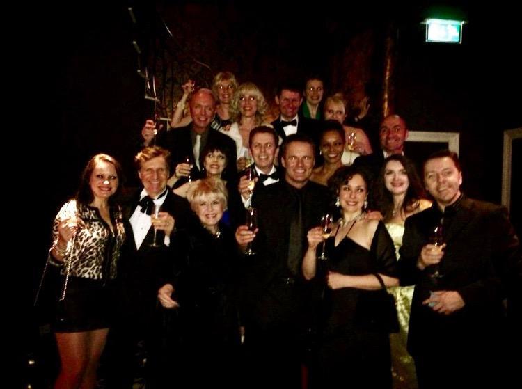 Original cast members with Gloria Hunniford at the Palladium Gala