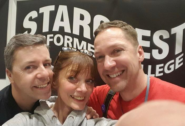 On our stand at MOVE IT Expo at Excel London with Jo, Simon and Me