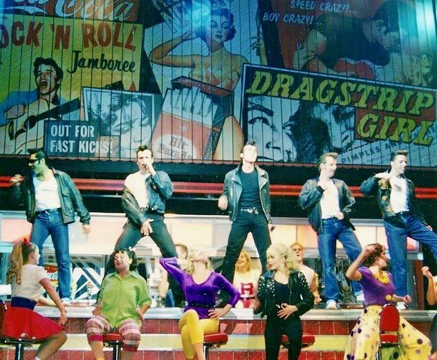 Finale of Grease with Me as Doody far right top