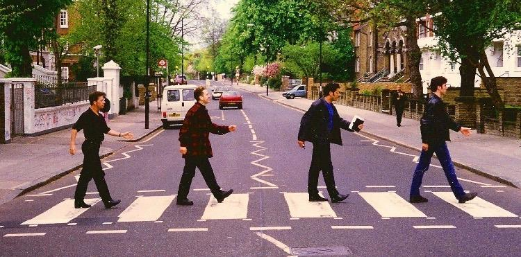 After recording at Abbey Road studios, we have to do the obligatory Beatles photo shoot