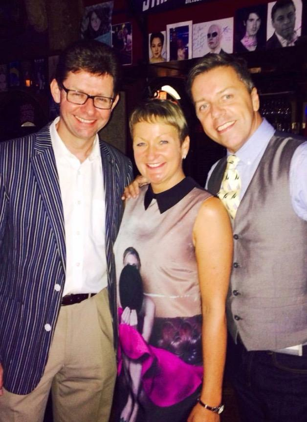 IDTA overload with original cast members at 42nd Street reunion.Jacey Collins, Graeme Henderson and Me