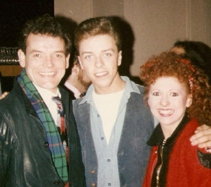 Bonnie Langford, David Schofield and Me at the 2500 performance drinks reception at the Adelphi Theatre