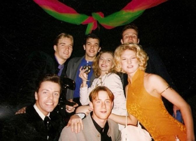Original tour Grease members Paul, Daniel, Alexis, Kevin, Mark, Toni and Me at a gala night