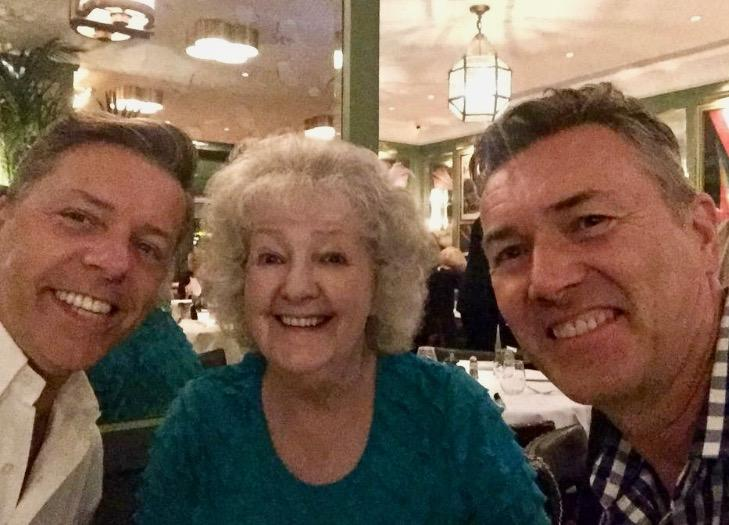 Mum, Hubby and Me out for lunch at The Ivy...
