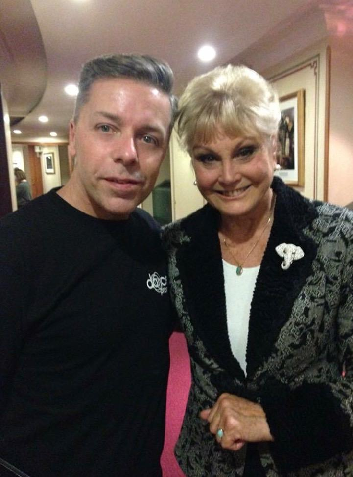 Backstage with Angela Rippon. Lovely lady...