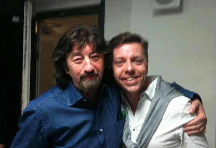 Sir Trevor Nunn and Me backstage at KISS ME KATE, Old Vic London