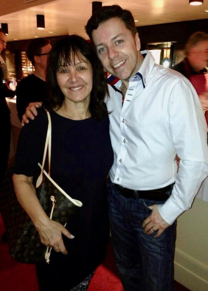 Grease choreographer (Arlene Phillips) and Me at the Palladium on a night out