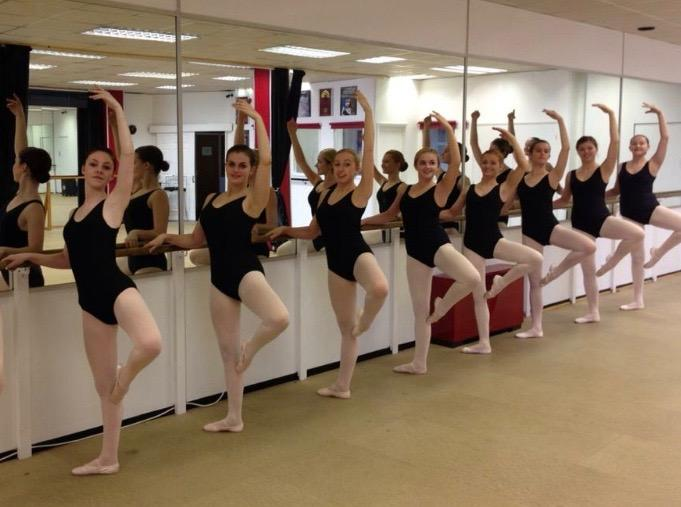 Senior students going through their paces with me teaching in our studios