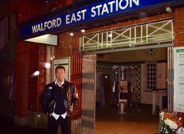 On set at Eastenders around Christmas 2012 waiting for a scene