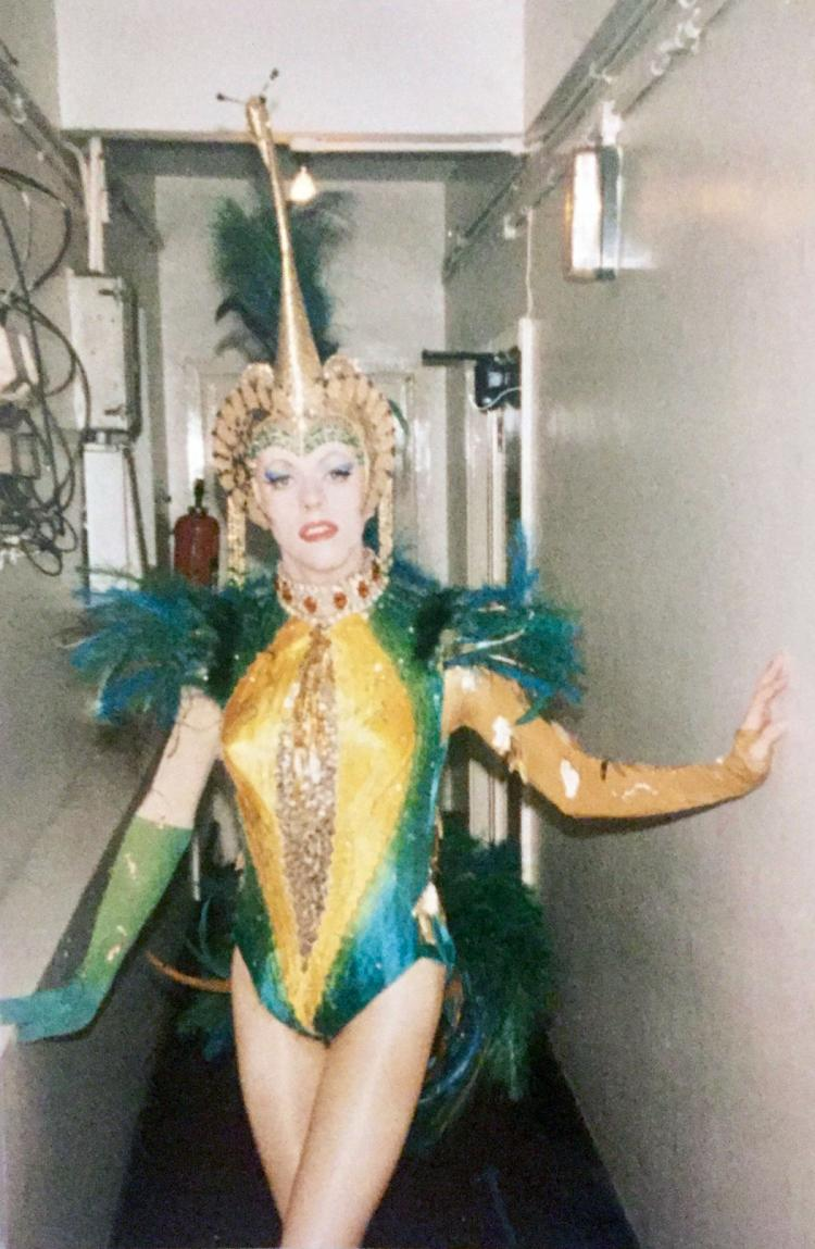 The Peacock costume in La Cage Aux Folles at the Palladium