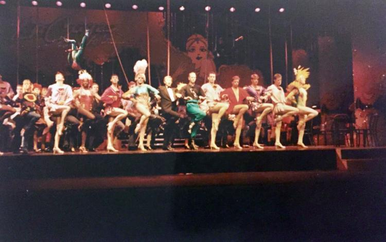 Dress rehearsal for La Cage Aux Folles at the Palladium Theatre, London