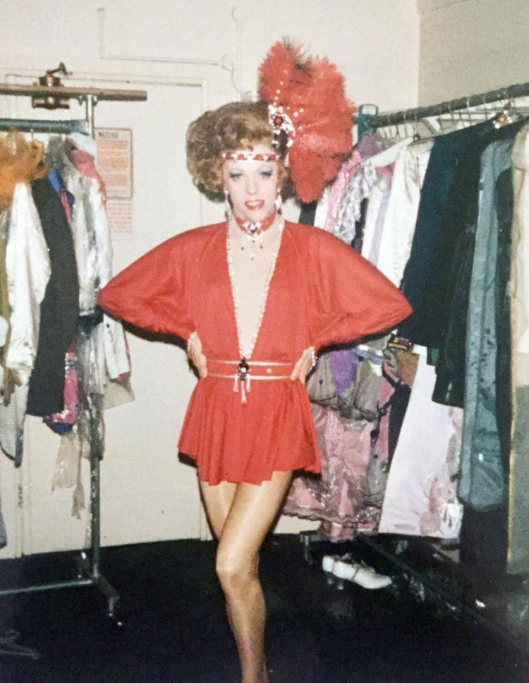 Getting ready for the opener in La Cage Aux Folles at the Palladium, London