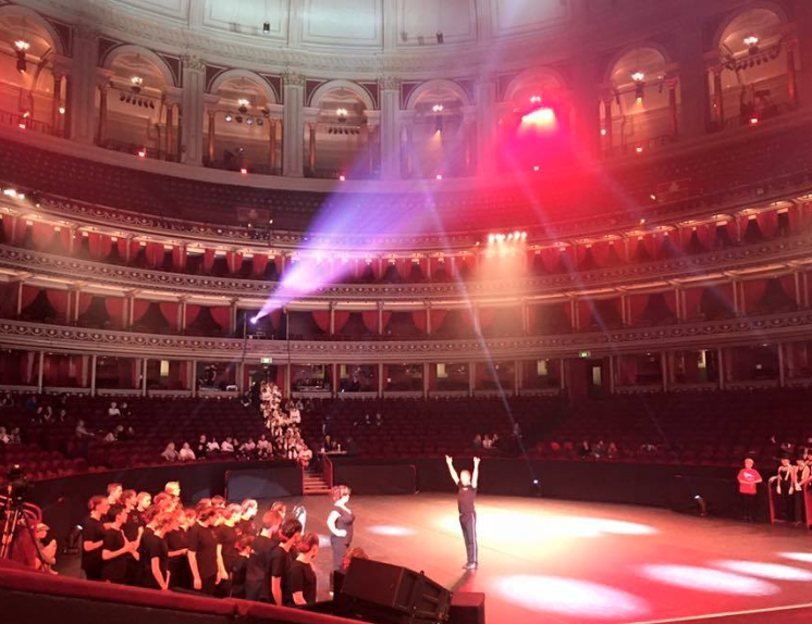 Me (Centre) in full flight directing 500+ International dancers at the Royal Albert Hall
