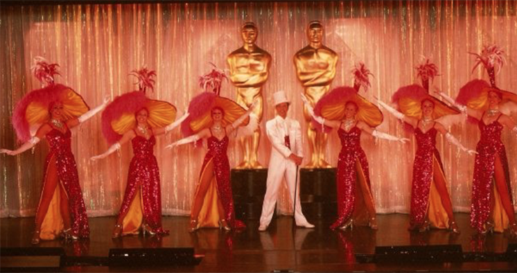 Me (centre) performing in the Oscars